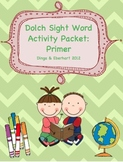 Dolch Sight Word - Primer Activity Packet