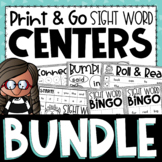 Dolch Sight Word Centers BUNDLE