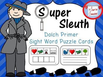 Dolch Primer Sight Word Puzzle Cards