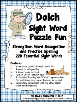 Dolch Sight Word Puzzle Fun {Practice Reading & Spelling 2