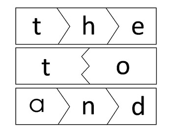 Dolch Sight Word Puzzles 1-50