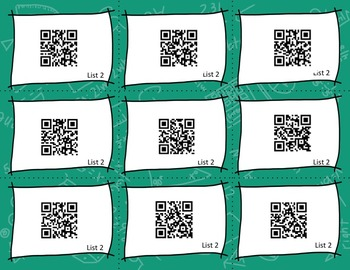 Dolch Sight Word Phrase QR Codes