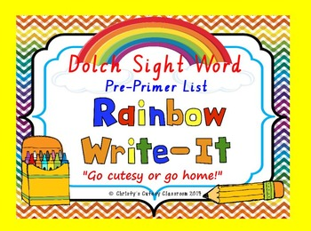 Dolch Sight Word Rainbow Write-It--Primer