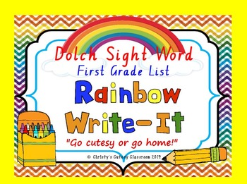Dolch Sight Word Rainbow Write It--Second Grade List