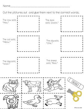 Sight Word Readers and Word Work Pre-Primer Dolch Words 6-10 Pack #2