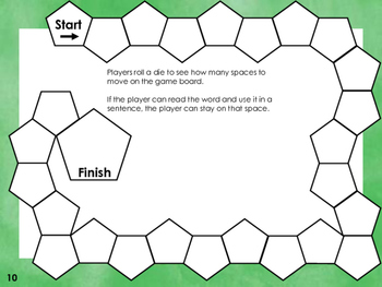 Dolch Sight Word Reading Board Game