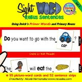 Rebus Sentences Using Dolch Sight Words (PRIMER List)