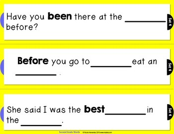 Rebus Sentences Using Dolch Sight Words (SECOND GRADE List)