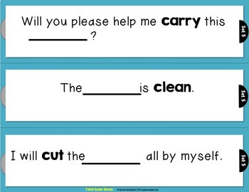 Rebus Sentences Using Dolch Sight Words (THIRD GRADE List)