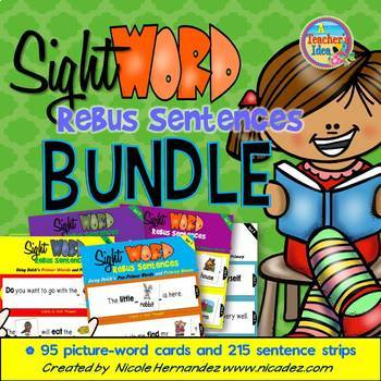 Rebus Sentences Using All 220 Dolch Sight Words (BUNDLED)
