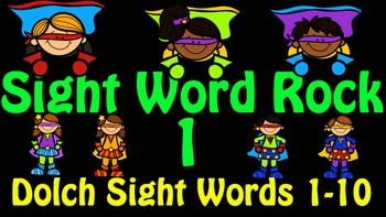 Dolch Sight Word Rock 1 Video (Dolch Sight Words 1-10)