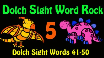 Dolch Sight Word Rock 5 Video (Dolch Sight Words 41-50)