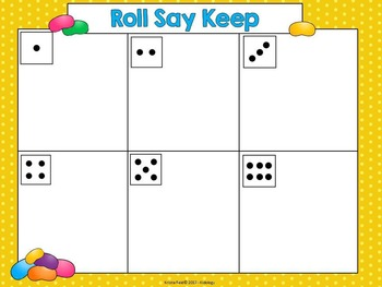 Sight Word Games - Roll, Say Keep