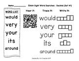 Dolch Sight Word Searches QR Codes Second Sets 1 to 9