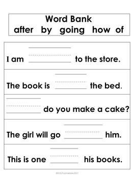 Dolch Sight Word Sentences Bundle Pack