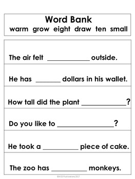 Dolch Sight Word Sentences Bundle Pack