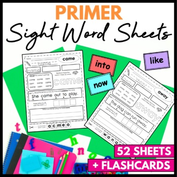 Sight Word Worksheets Primer