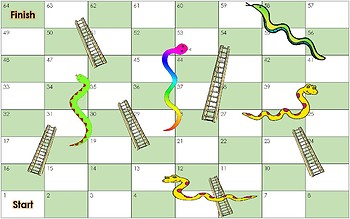 Dolch Sight Word Snakes and Ladders Board Game