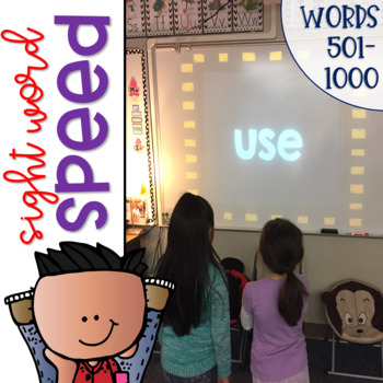 Sight Word Speed an Interactive Game for Dolch High-Freque