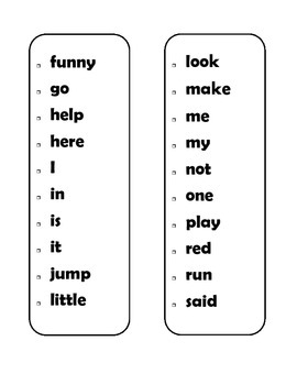 Dolch Sight Word Sticker Book