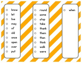 Dolch Sight Word Sticker Book Grade One