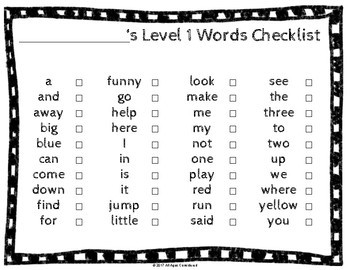 Dolch Sight Word Student Data Tracking Bundle