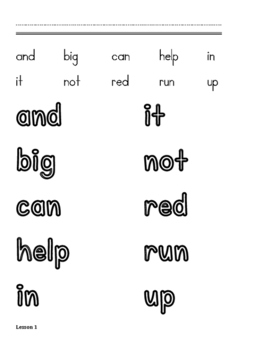 Dolch Sight Word Study