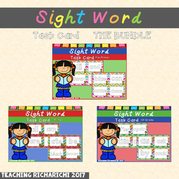 Dolch Sight Word Task Cards THE BUNDLE
