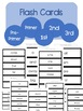 Dolch Sight Word Tracker, Assessments, and Flash Cards!