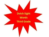 Dolch Sight Word Video (Third Grade)