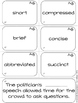 Dolch Sight Word Vocabulary BUNDLE {Shades of Meaning Synonym Sorting Cards}