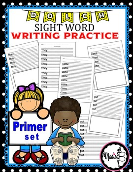 Dolch Sight Word WRITING PACKET - Primer Set