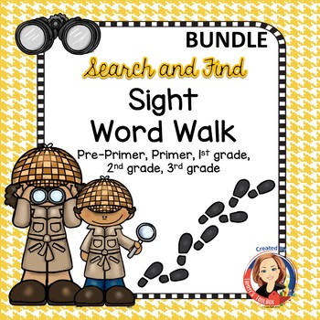 Sight Word Walk Activities - Bundle Pre-Primer, Primer, 1st, 2nd, 3rd Grade