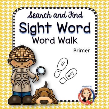 Sight Word Walk Activity - Primer Words