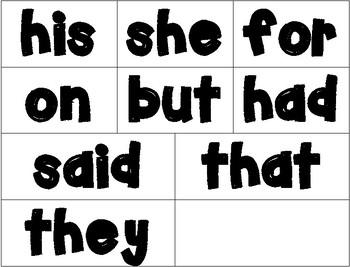 FREEBIE - Dolch Sight Word Wall Cards