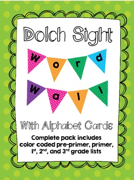 Dolch Sight Word Wall Kit