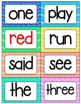Dolch Sight Word Wall Cards: Pre Primer, Primer, and 1st