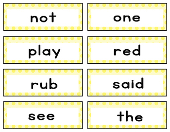 Free Downloads - Dolch Sight Word Wall/Flash cards