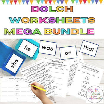 Dolch Sight Word and High Frequency Word Work Bundle Pre-Primer-3rd Grade