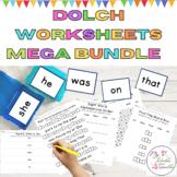 Sight Word Worksheets Work Bundle l Dolch Pre-Primer-3rd G