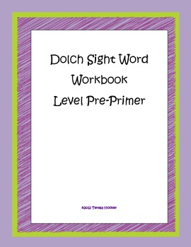 Dolch Sight Word Workbook Level Pre-Primer