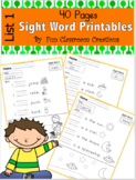 Write and Read Sight Word Fluency (List 1)