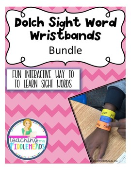 Sight Words Wristbands Bundle
