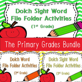 Dolch Sight Word Write and Wipe File Folder~ The Primary Grades Bundle