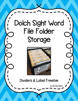 Dolch Sight Word Write and Wipe File Folder Storage