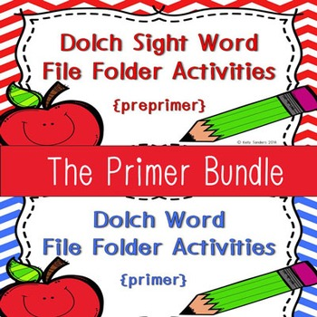 Dolch Sight Word Write and Wipe File Folder~ The Primer Bundle