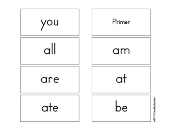 Dolch Sight Word and Noun Flash Cards