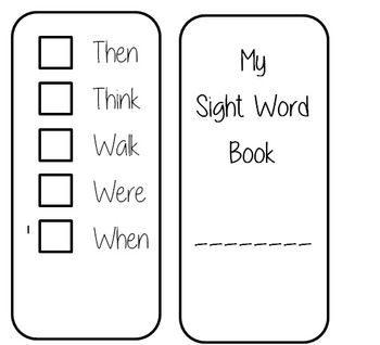 Dolch Sight Word book- first grade