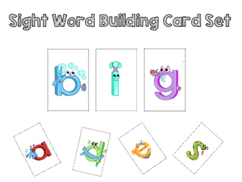Dolch Sight Word building card set - primer set