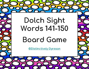 Dolch Sight Words 141-150 Board Game